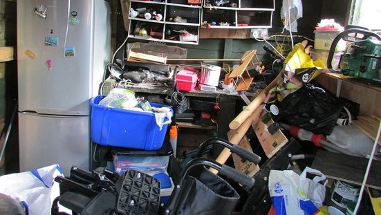 A garage that could use our clearance services.""